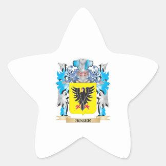 Escudo de armas del taladro pegatina en forma de estrella