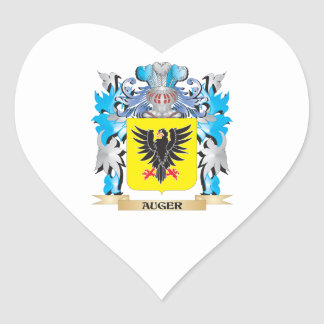 Escudo de armas del taladro pegatina en forma de corazón