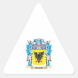 Escudo de armas del taladro pegatina triangular