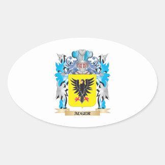 Escudo de armas del taladro pegatina ovalada