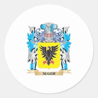 Escudo de armas del taladro pegatina redonda