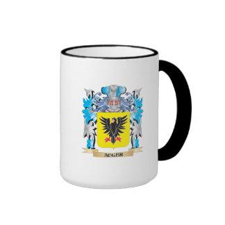 Escudo de armas del taladro taza a dos colores