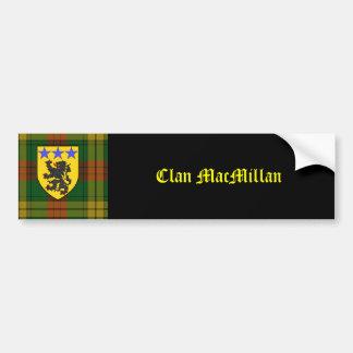 Escudo de armas del tartán de MacMillan Pegatina De Parachoque