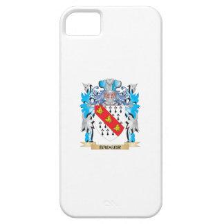 Escudo de armas del tejón iPhone 5 Case-Mate fundas