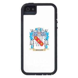 Escudo de armas del tejón iPhone 5 protectores
