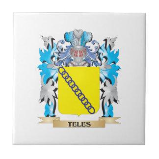 Escudo de armas del Teles - escudo de la familia Azulejo Cuadrado Pequeño