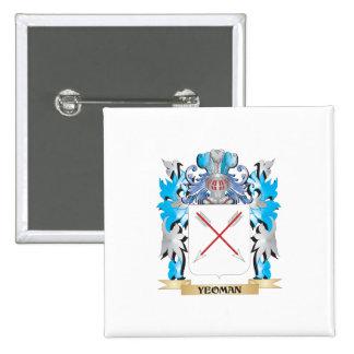 Escudo de armas del terrateniente - escudo de la chapa cuadrada 5 cm