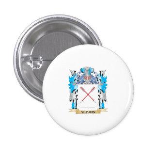Escudo de armas del terrateniente - escudo de la chapa redonda 2,5 cm