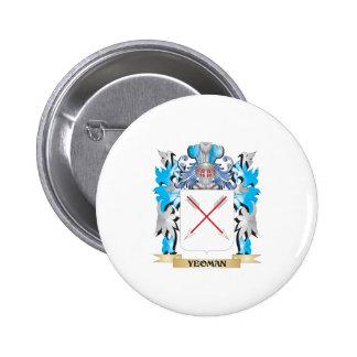Escudo de armas del terrateniente - escudo de la chapa redonda 5 cm