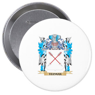 Escudo de armas del terrateniente - escudo de la chapa redonda 10 cm