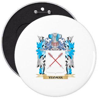 Escudo de armas del terrateniente - escudo de la chapa redonda 15 cm