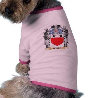 Escudo de armas del tocino - escudo de la familia camiseta con mangas para perro