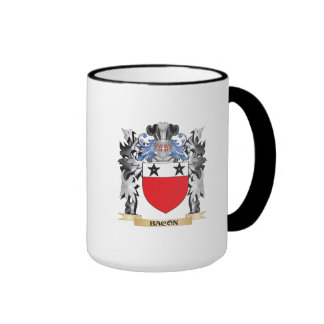 Escudo de armas del tocino - escudo de la familia taza a dos colores