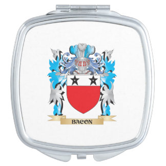 Escudo de armas del tocino espejo para el bolso