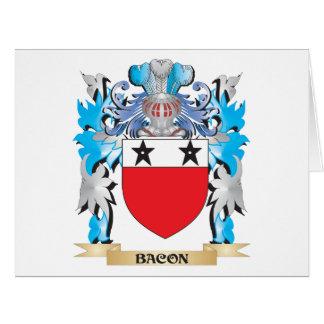 Escudo de armas del tocino tarjeta de felicitación grande