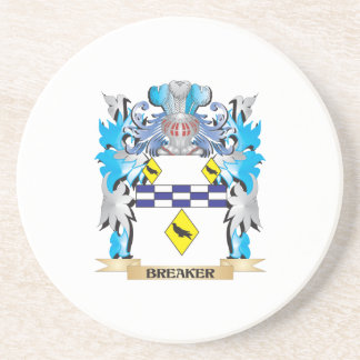 Escudo de armas del triturador posavaso para bebida