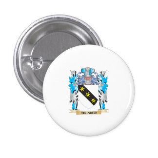 Escudo de armas del trueno - escudo de la familia pin redondo de 1 pulgada