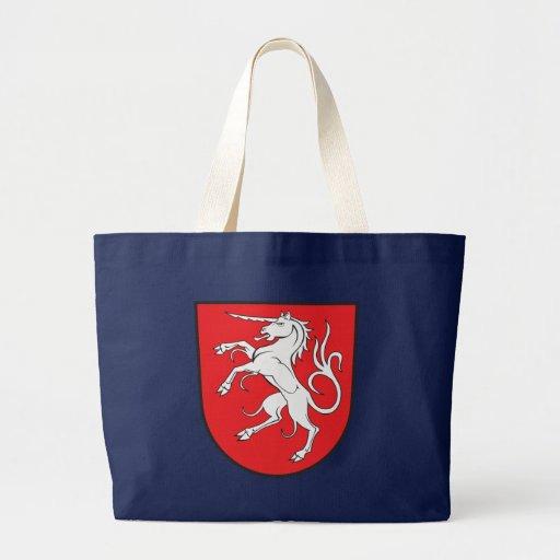 Escudo de armas del unicornio - Schwabisch Gmund A Bolsa Tela Grande