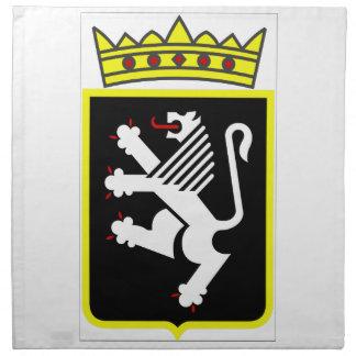 Escudo de armas del valle de Aosta Servilletas