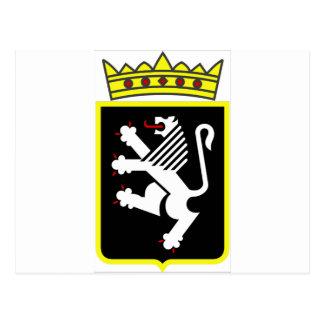 Escudo de armas del valle de Aosta Postal