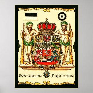 Escudo de armas del vintage del de Königreich Pr Poster