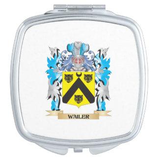Escudo de armas del Wailer - escudo de la familia Espejo Para El Bolso
