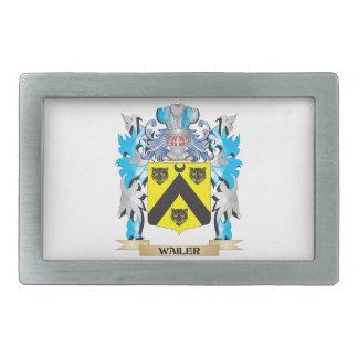 Escudo de armas del Wailer - escudo de la familia Hebilla De Cinturon Rectangular
