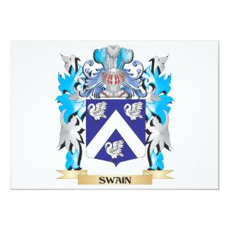 """Escudo de armas del zagal - escudo de la familia invitación 5"""" x 7"""""""