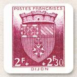 Escudo de armas, Dijon Francia Posavasos De Bebidas