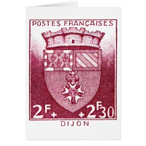 Escudo de armas, Dijon Francia Tarjeta De Felicitación