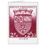 Escudo de armas, Dijon Francia Tarjetón