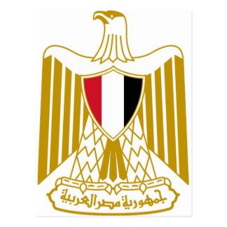 Escudo de armas egipcio tarjetas postales