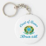 Escudo de armas el Brasil Llaveros Personalizados