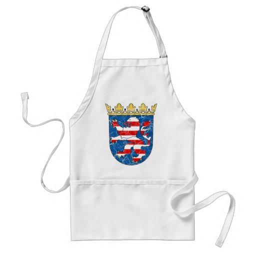 Escudo de armas envejecido de Hesse Delantal