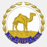 Escudo de armas ER de Eritrea Etiqueta Redonda