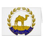 Escudo de armas ER de Eritrea Felicitacion