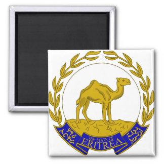 Escudo de armas ER de Eritrea Imán Cuadrado