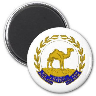 Escudo de armas ER de Eritrea Imán Redondo 5 Cm