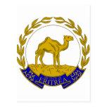 Escudo de armas ER de Eritrea Tarjeta Postal
