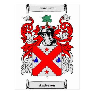 Escudo de armas (escocés) de Anderson Postales