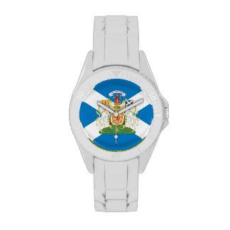 Escudo de armas escocés relojes de mano