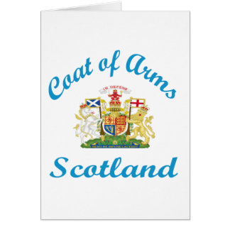 Escudo de armas Escocia Tarjeta