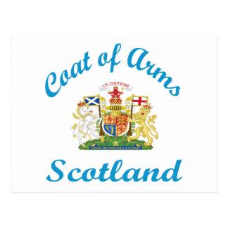 Escudo de armas Escocia Postales