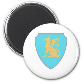 Escudo de armas escudo hatchment imán redondo 5 cm