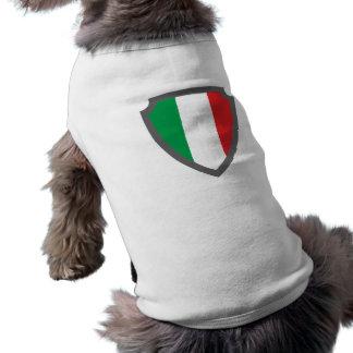 Escudo de armas escudo hatchment Italia Italy Ital Playera Sin Mangas Para Perro