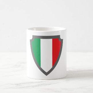 Escudo de armas escudo hatchment Italia Italy Ital Taza Básica Blanca