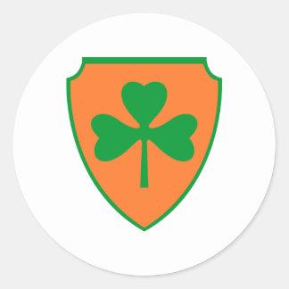 Escudo de armas escudo hatchment pegatina redonda