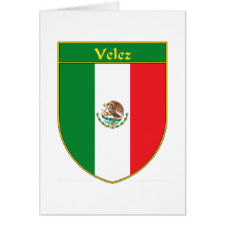 """Escudo de armas"""" """"escudo"""" """"P de Velez """"Velez de la Tarjeta De Felicitación"""