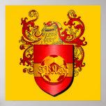 Escudo de armas español clásico de Futbol del fútb Poster