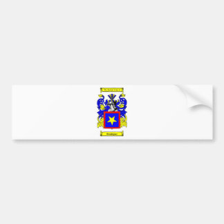 Escudo de armas (español) de Domínguez Etiqueta De Parachoque